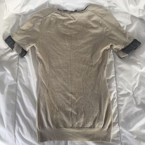Burberry Tops - Burberry Plaid 3/4 Sleeve Small Knit Shirt